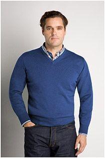 Wollen trui met V-hals van Plus Man