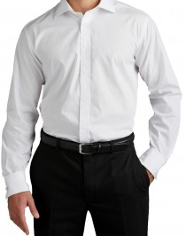 Extra lange mouw uni overhemd van Plus Man