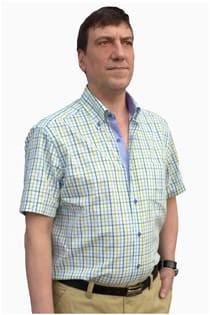 Geruiten korte mouw vrijetijdsoverhemd van Plus Man.