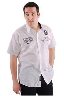 Uni kortemouw vrijetijds overhemd van Kitaro.