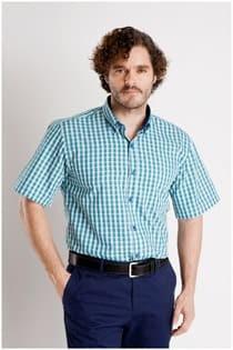 Overhemd korte mouw van Plus Man.