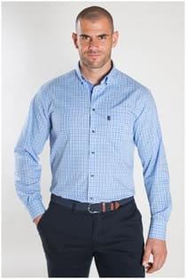 Lange mouw overhemd 3 kleurig ruitje van Plus Man