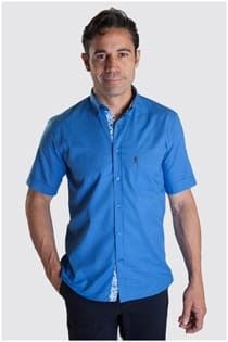 Effen korte mouw overhemd Plus Man