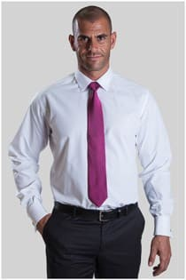 Overhemd lange mouw uni fil-a-fil lengte maten slim fit