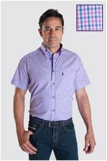 Overhemd ruitje korte mouw van Plus Man.