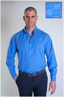 Print overhemd lange mouw van Plus Man.