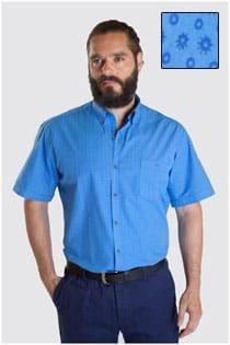 Print overhemd korte mouw van Plus Man.