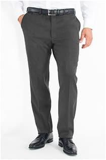 Wollen stretch broek zonder bandplooi