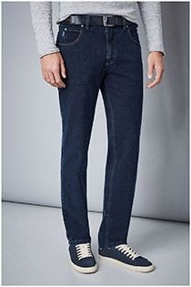 Extra lange 5-pocket jeansbroek met stretch van Pionier.