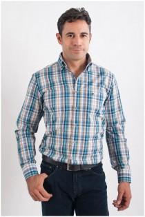 Ruitje overhemd lange mouw van Casamoda.