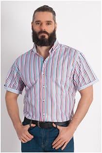 Korte mouw overhemd streepje Plus Man