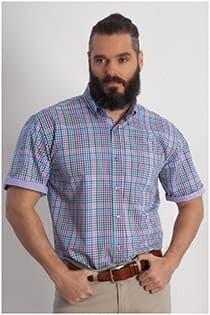 Korte mouw overhemd ruit Plus Man