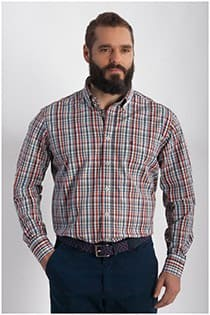 Casamoda ruiten overhemd EXTRA lange mouw