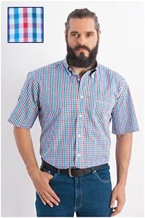 Ruiten korte mouw overhemd Redfield