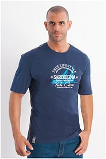 Korte mouw t-shirt Redfield Sardegna print