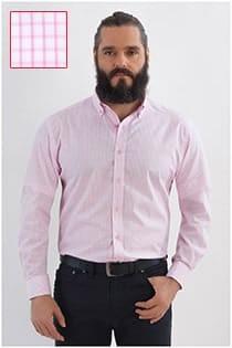 Lange mouw ruiten overhemd Plus Man.