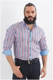 Streepjes overhemd extra lang van Plus Man.