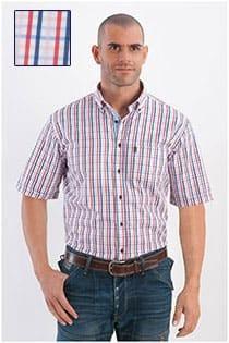 Korte mouw ruiten overhemd Plus Man
