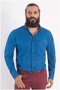Uni twill Casamoda overhemd lange mouw