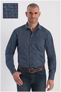 Bedrukt Casamoda overhemd