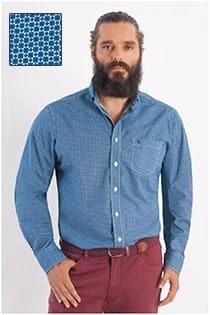 Casamoda print overhemd lange mouw