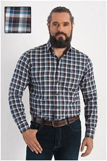 Casamoda ruiten casual overhemd
