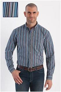 Casamoda gestreept lange mouw overhemd