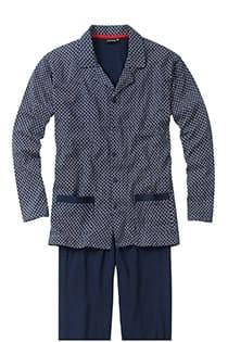 Katoenen bedrukte pyjama met knopen