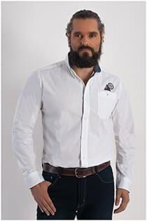 Uni lange mouw overhemd van Redfield