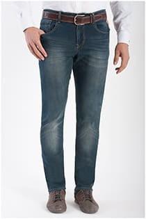 Extra lange 5-pocket elastische jeans van KAM Jeanswear.