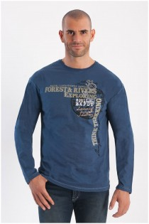 Lange mouw Forestal t-shirt grote print.