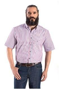 Korte mouw streepjes overhemd Carlos Cordoba