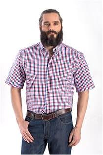 Korte mouw ruiten overhemd Carlos Cordoba