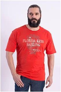 Kitaro korte mouw t-shirt met print