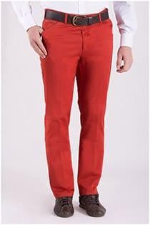 Elastische chino broek van Plus Man.