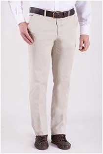 Extra lange elastische katoenen chino broek van Plus Man.