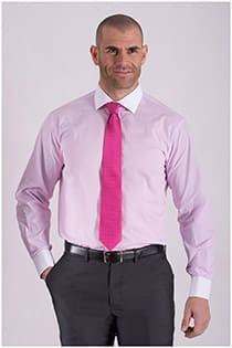 Plus Man dress overhemd contrasten