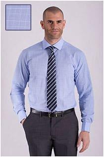 Extra lang Plus Man dress overhemd ruitje