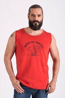 Katoenen mouwloos t-shirt van Hajo