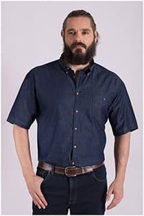 Denim korte mouw overhemd van GCM Originals