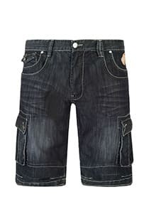 Black denim bermuda 5-pocket van KAM Jeanswear
