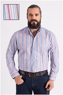 Gestreept Casamoda lange mouw overhemd