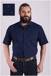 Casamoda overhemd korte mouw print