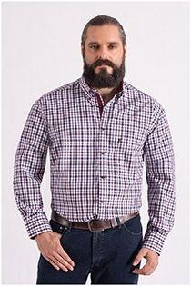 Extra Lange ruiten overhemd van Plus Man