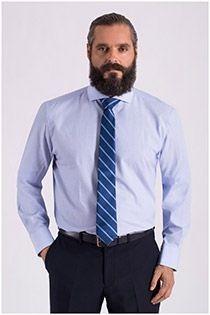 Katoenen businessoverhemd met structuurtje Carlos Cordoba