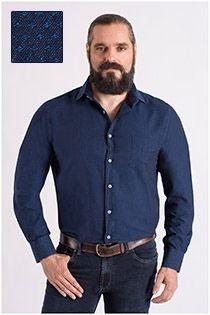 Katoenen casual overhemd met structuurtje Carlos Cordoba