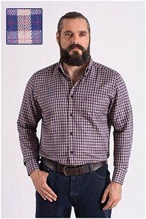 Lange mouw overhemd Carlos Cordoba visgraatdessin.