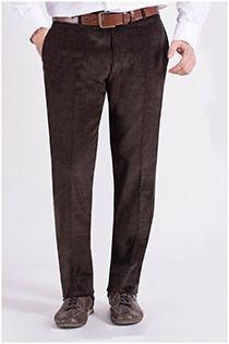Elastische Corduroy broek van Plus Man.