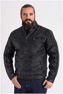 Leather look jas van Koyote.