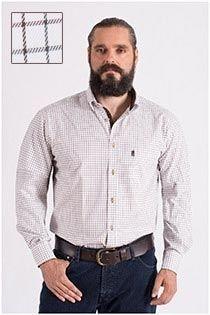 Geruit katoenen vrijetijdsoverhemd van Plus Man